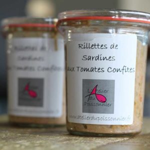 Rillettes de sardines aux tomates confites